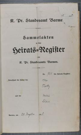 historisches Heiratsregister